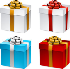 Set of realistic 3d gift boxes.