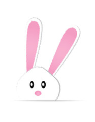 cute bunny card easter day