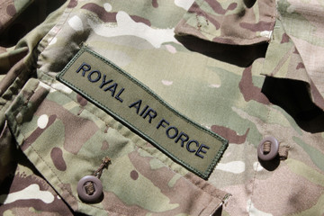Background RAF military uniform