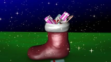 クリスマス靴下にプレゼント
