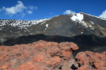 Hardened lava of the mount Etna