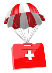 First Aid Case and Parachute