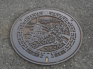 manhole cover in Nara,Japan
