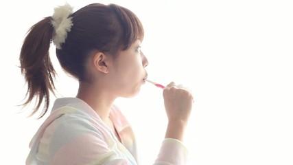 歯磨きをする女の子1