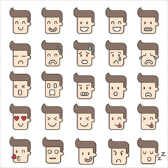 emoticons man cute  vector illustration