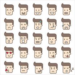 emoticons man cute  vector illustration