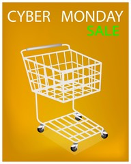 Shopping Cart on Cyber Monday Sale Promotion