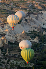 Cappadocia, Turkey. the flight with the balloon at sunrise