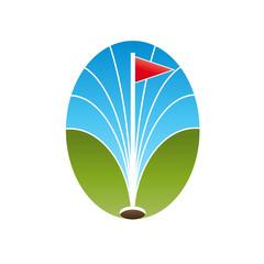 Vector logo abstract Golf Club