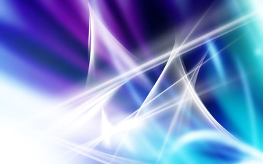 Abstract Lighting in White Blue and Purple
