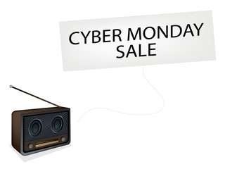 Beautiful Old Radio Playing Cyber Monday Song