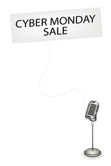 A Retro Microphone Broadcasting Cyber Monday Sale