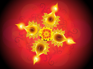 abstract artistic detailed diwali background