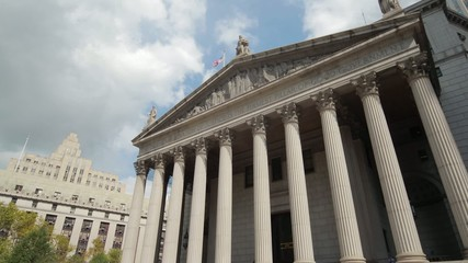 Supreme Court courthouse building in New York City