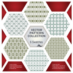 Vector pattern for creating borders, frames and backgrounds