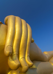 The Big Hand Buddha at Wat Muang Temple, Angthong, Thailand