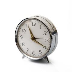 orologio da tavolo in fondo bianco