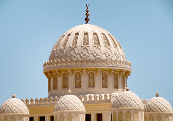 Detail of Domes on Roof of El Mina Masjid Mosque