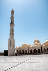 Exterior of El Mina Masjid Mosque with Minaret