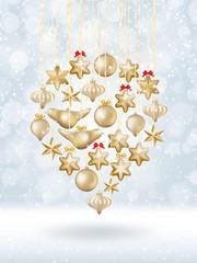Christmas bokeh poster with Tree. EPS 10