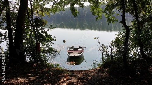 canvas print picture Angelkahn am See