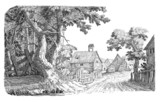 Village illustration - 70259563