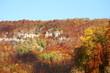 canvas print picture - Felsen am Albtrauf im Herbst / Schwäbische Alb