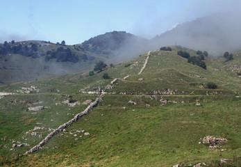 trench warfare of WWI on monte NOVEGNO in Veneto