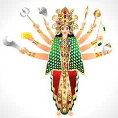 Vector Illustration godess Durga