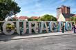 Постер, плакат: Curacao slogan logo in Willemstad