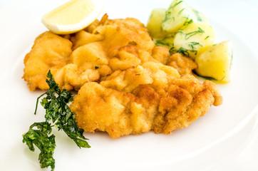 wiener schnitzel, veal cutlet and lemon