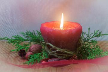 Christmas candle flame