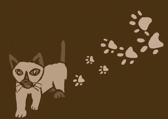 Siamese kitty vintage