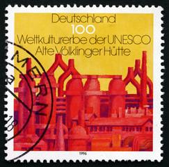 Postage stamp Germany 1996 Closed Blast Furnace, Volklingen