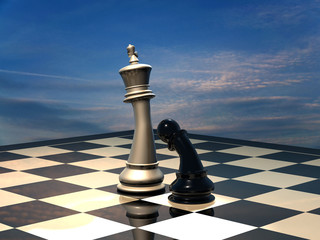 Chess: end of battle.