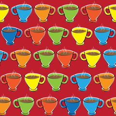 cup of coffee seamless pattern