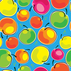 apples colorful seamless pattern