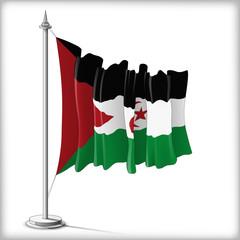Flag of Sahrawi Arab Democratic Republic