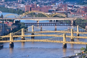 Pittsburgh bridges, USA