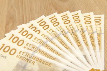 100 dänische Kronen Geldscheine