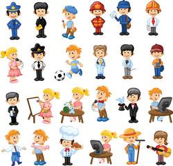 Мультяшные персонажи разных профессий