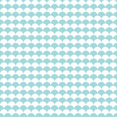 Seamless Pattern Retro Fish Scales Turquoise