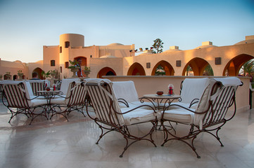 Outdoor Patio Lounge at Hurghada, Egypt