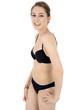 canvas print picture - Teenager in Bikini lacht