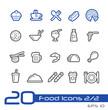 Food Icons - Set 1 of 2 // Line Series