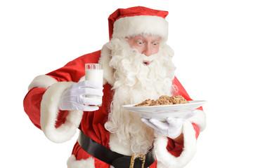 Santa gets milk and cookies
