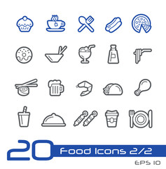 Food Icons - Set 1 of 2 // Line Series