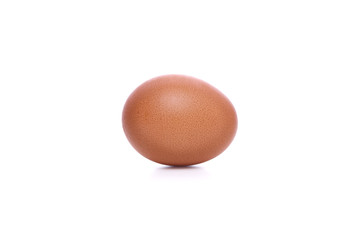 An egg isolated with white background.