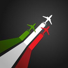 Italy plane vector