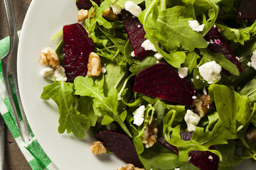 Raw Green Beet and Arugula Salad